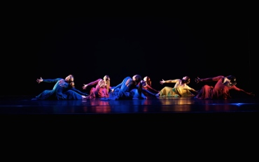 """FURY"" - Choreographed by Kameron Saunders - Photo by Jonathan White (Emily in pink)"